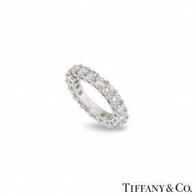 Tiffany & Co. Platinum Embrace Diamond Eternity Ring 2.85ct